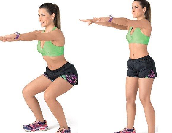 exercicios-para-queimar-barriga-agachamento